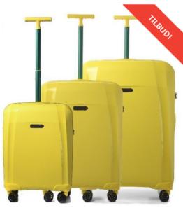 rejsekufferter i gul